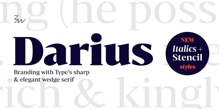 Bw Darius现代简约衬线英文字体下载