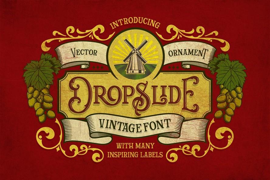 Dropslide个性复古哥特式英文字体下载