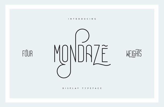 Mondaze简约创意无衬线英文字体下载