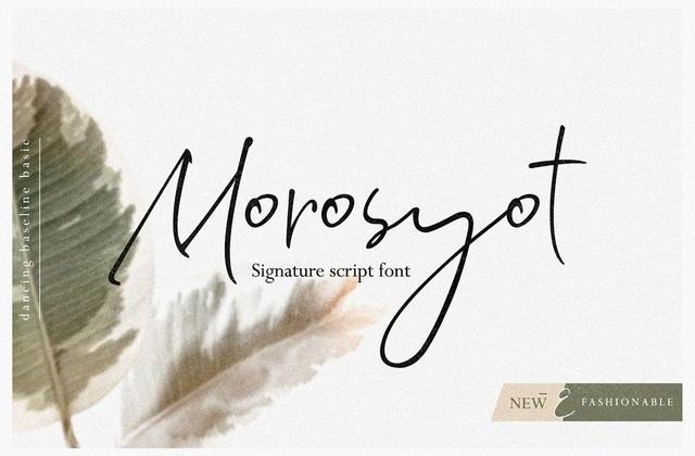 Morosyot手写简约签名网红连笔英文字体下载