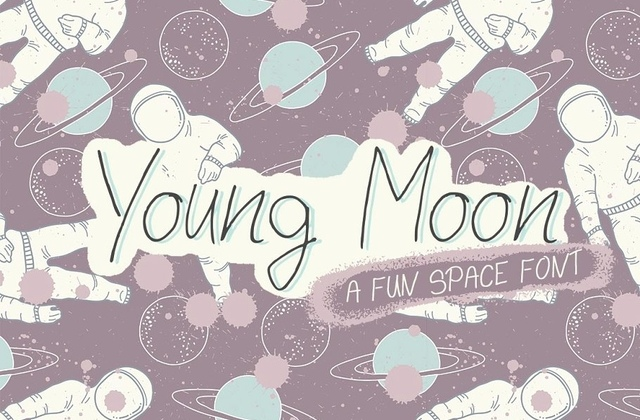 YoungMoon手写可爱卡通英文字体下载
