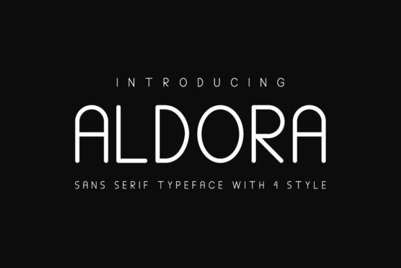 Aaldora现代简约品牌logo无衬线英文字体下载