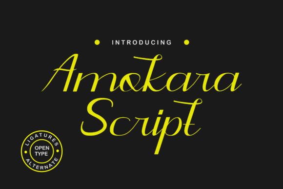 Amokara手写连笔现代简约潮牌logo英文字体下载