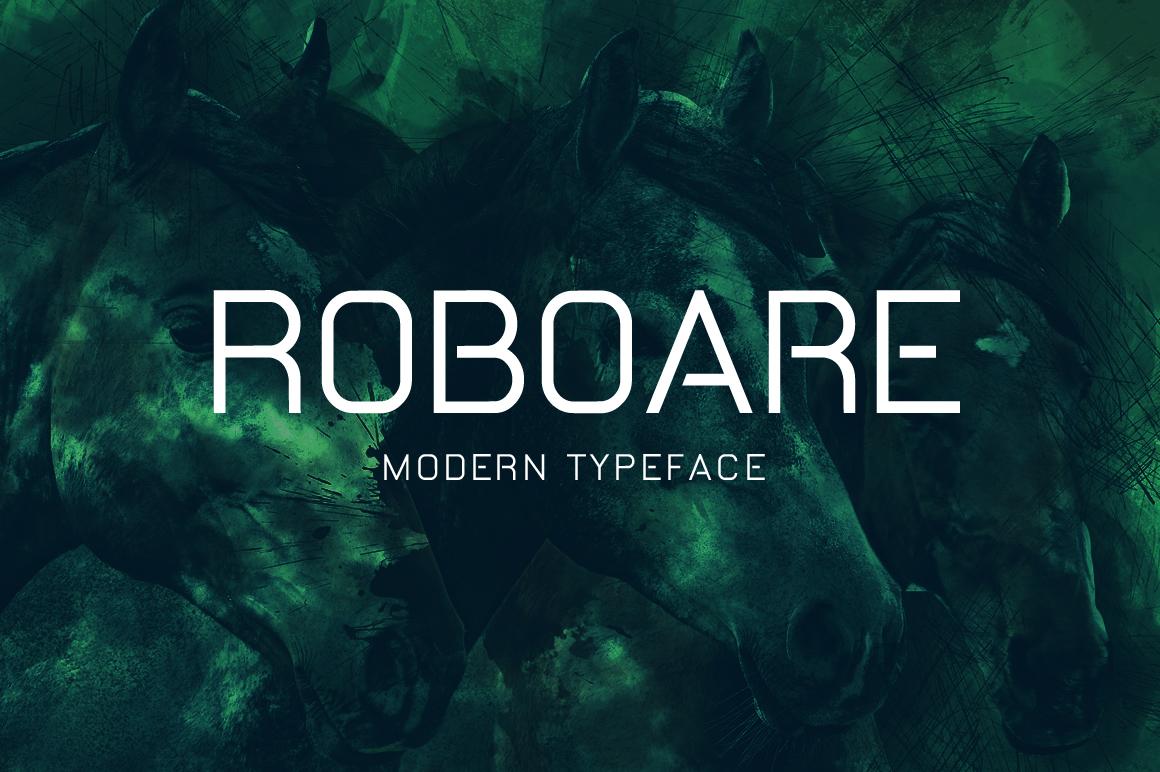 Roboare现代简约海报无衬线英文字体下载