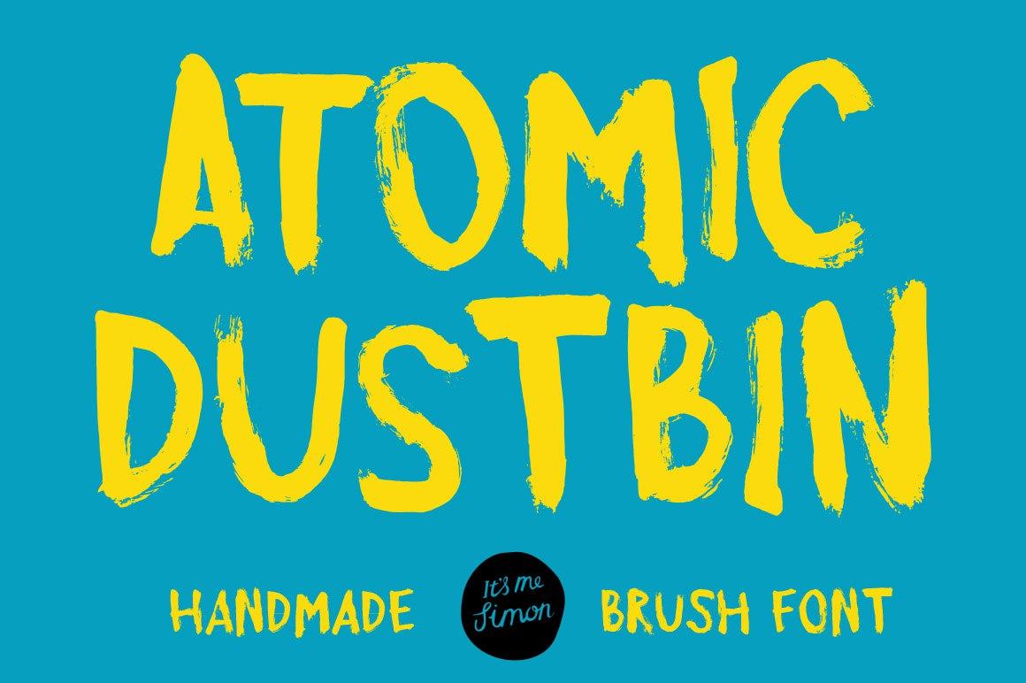 AtomicDustbin手写笔刷无衬线英文字体下载