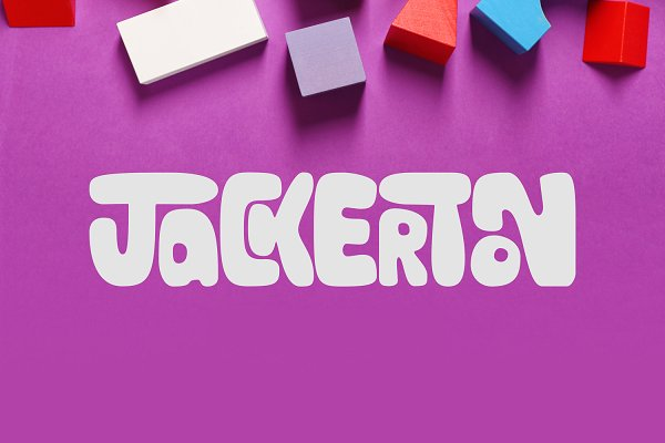 Jackerton现代创意圆润手写卡通英文字体下载