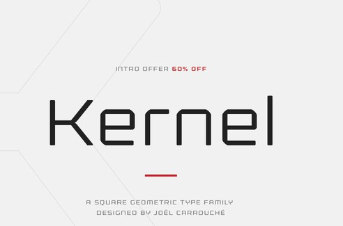 Kernel现代简约品牌logo无衬线英文字体下载