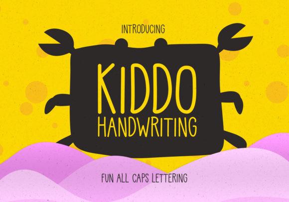 Kiddo手写手绘可爱英文字体下载