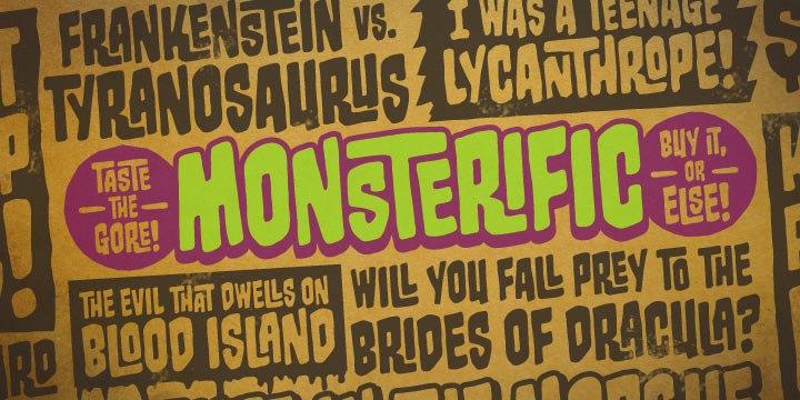 MonsterificBB手写手绘卡通英文字体下载