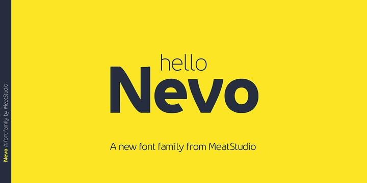 Nevo现代简约品牌logo无衬线英文字体下载