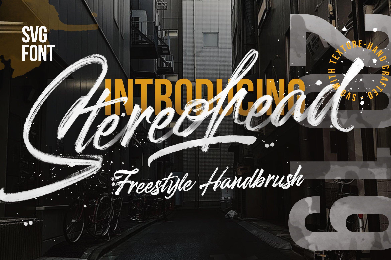 Stereohead手写书法笔刷笔触电商海报英文字体下载