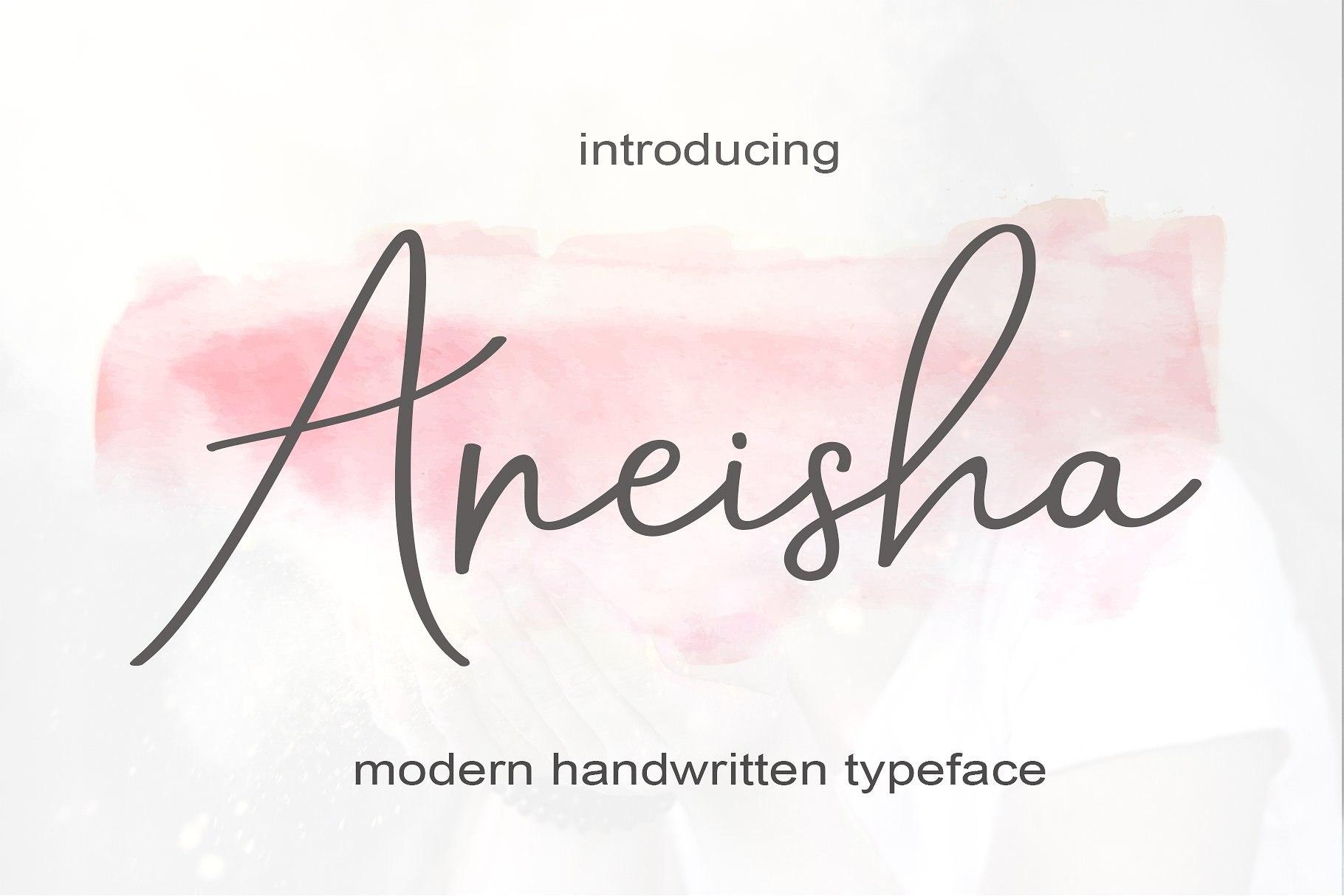Aneisha手写连笔现代英文字体下载