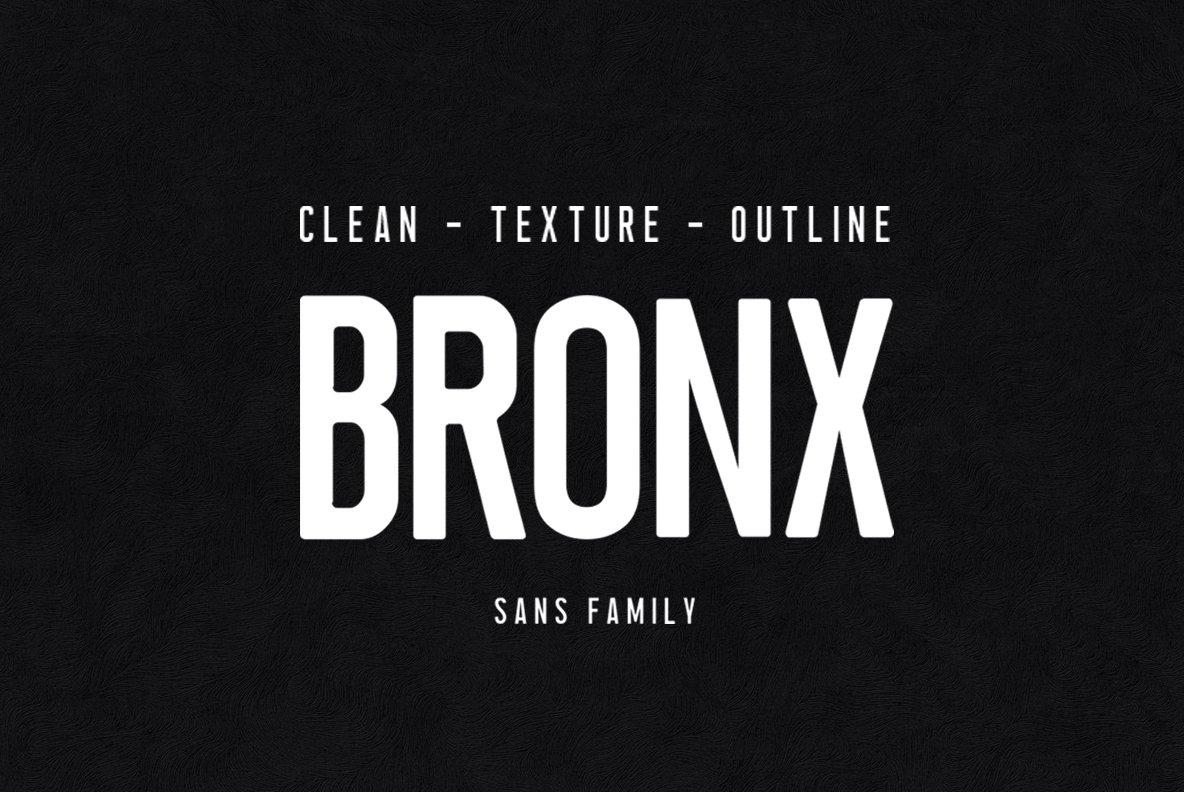Bronx现代潮牌logo无衬线英文字体下载