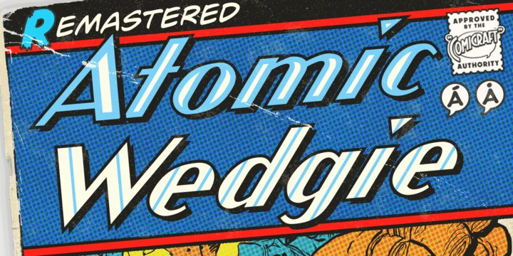 CCAtomicWedgie无衬线复古logo英文字体下载
