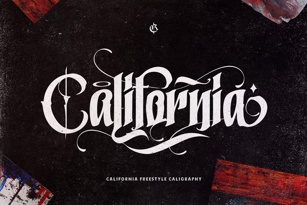 California个性复古哥特式英文字体下载