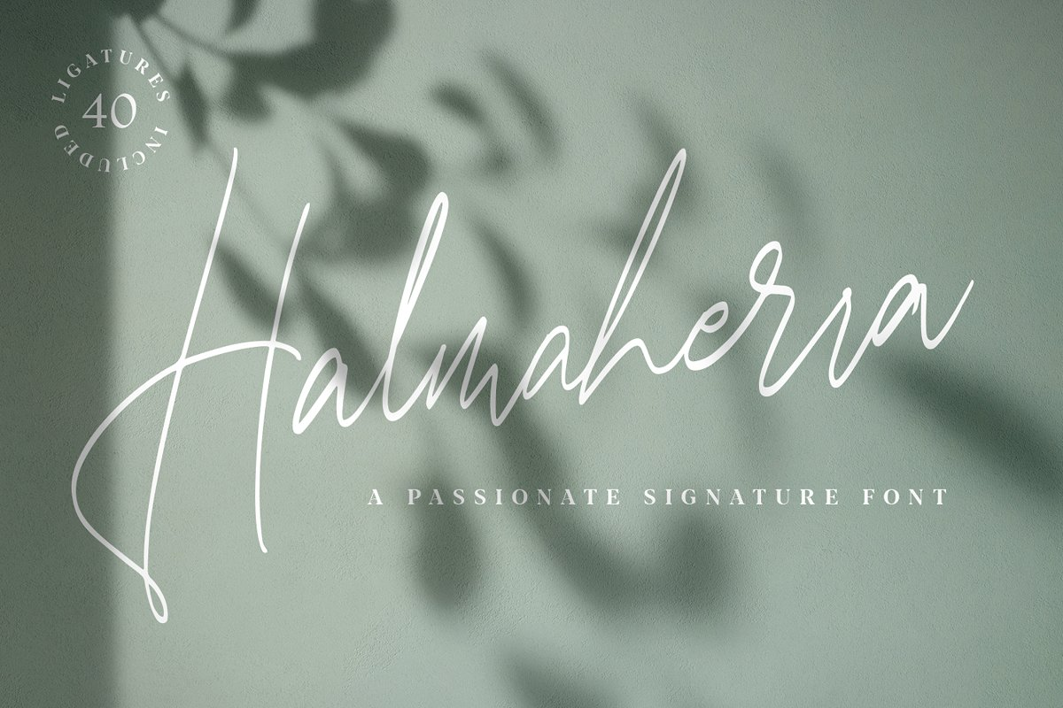 Halmaherra手写连笔纤细随意文艺清新简约签名英文字体下载