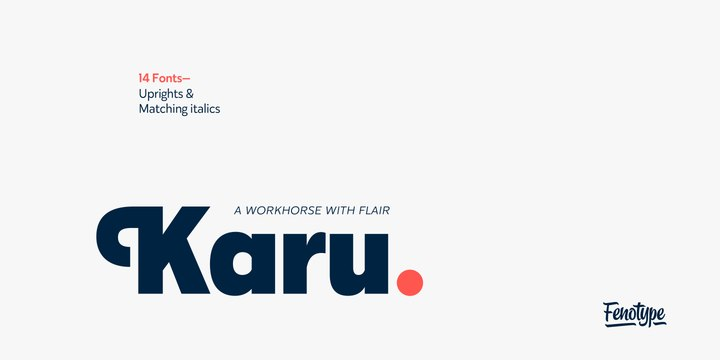 Karu现代logo无衬线英文字体下载