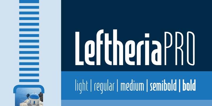 Leftheria PRO经典无衬线英文logo字体下载