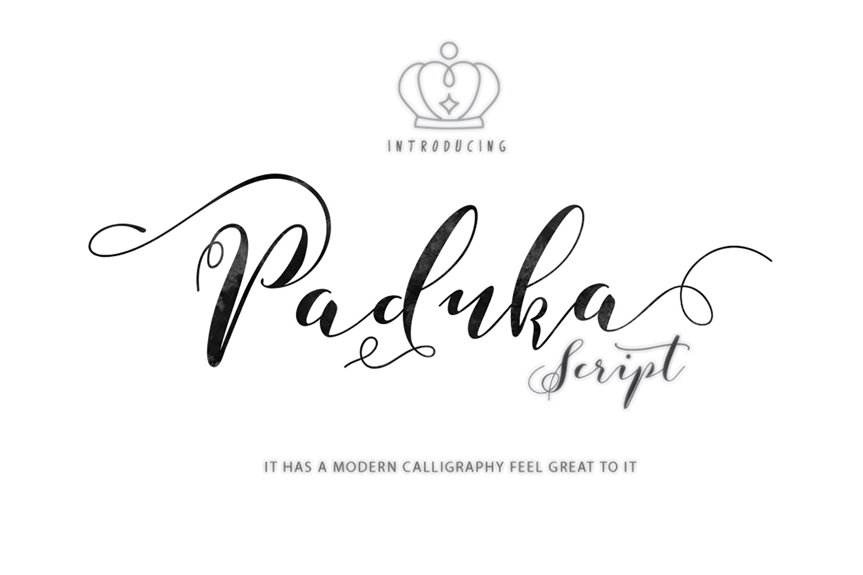 PadukaScript手写连笔花体婚礼卡片英文字体下载