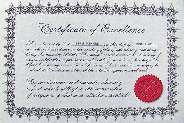 Prints Charming手写婚礼花体证书印刷体信封英文字体下载