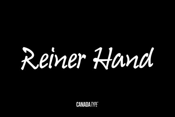 Reiner Hand手写简约品牌logo英文字体下载