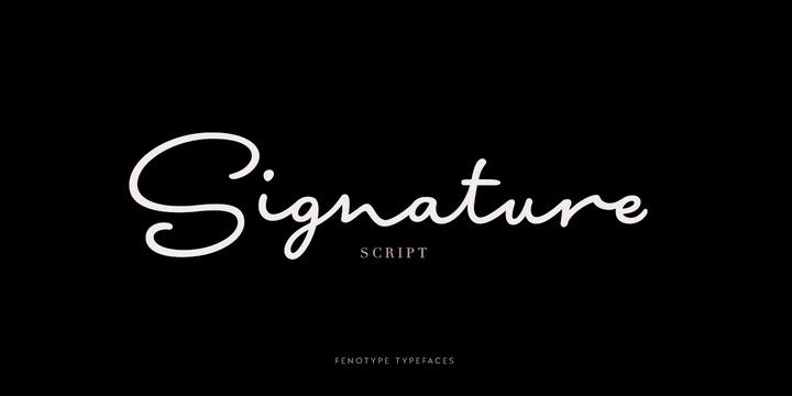 Signature Script手写连笔品牌签名logo英文字体下载