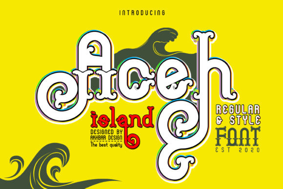 Aceh Island创意logo手写英文字体下载