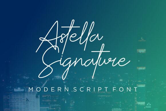 Astella Signature网红连笔签名手写英文字体下载