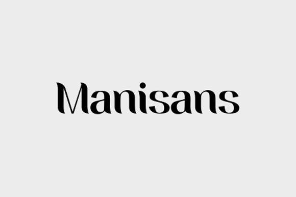 Manisans衬线时尚logo英文字体下载