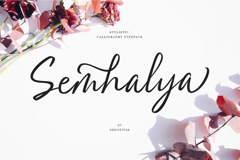 Semhalya婚纱连笔手写英文字体下载