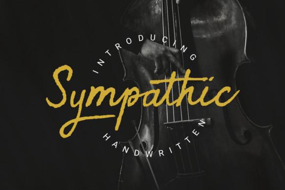 Sympathic手写个性logo英文字体下载