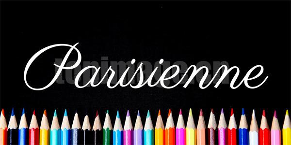 parisienne手写衬线英文字体