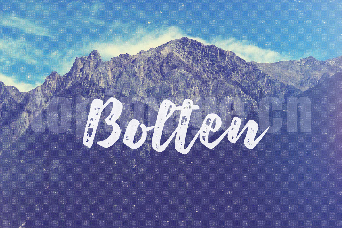 Bolten手绘英文海报字体下载