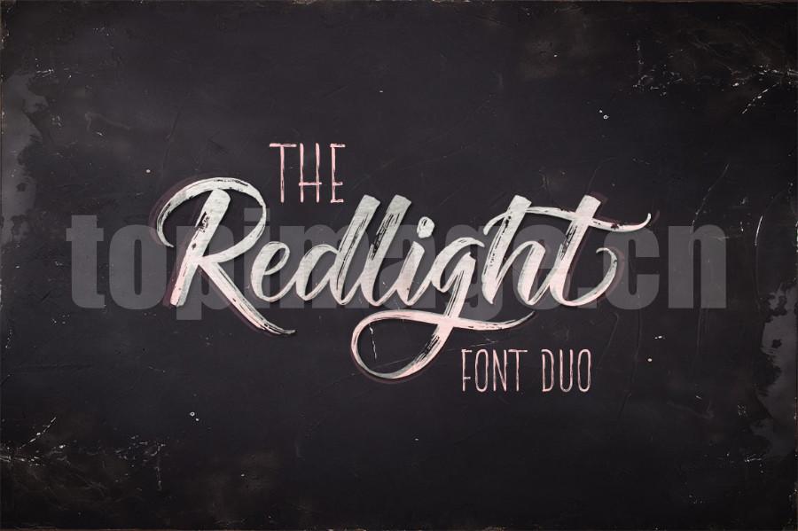 The Redlight手绘书法英文字体下载