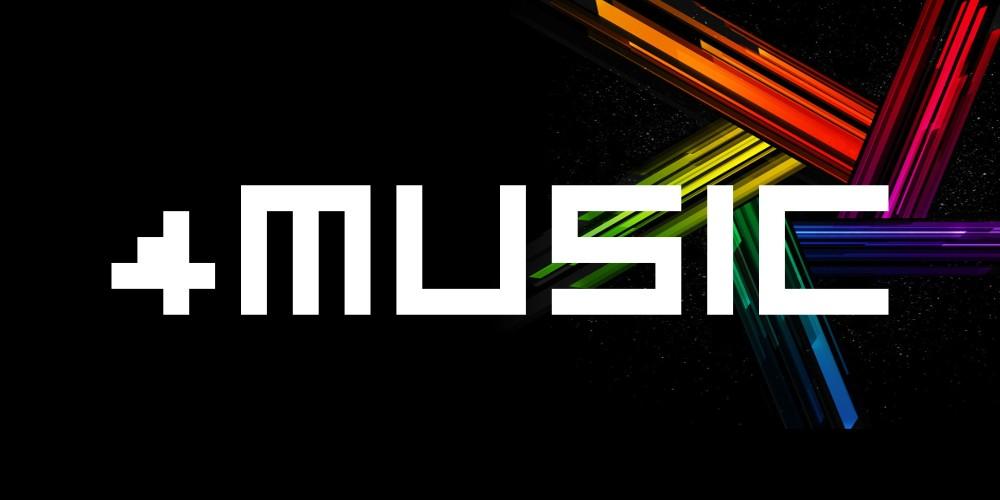 4Music矩形方块创意logo英文字体下载
