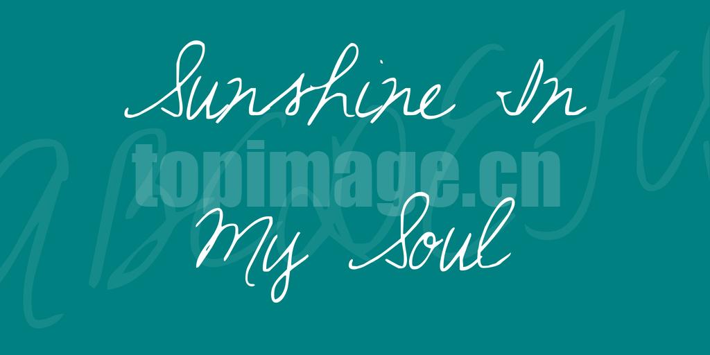 sunshine-in-my-soul手写英文字体下载