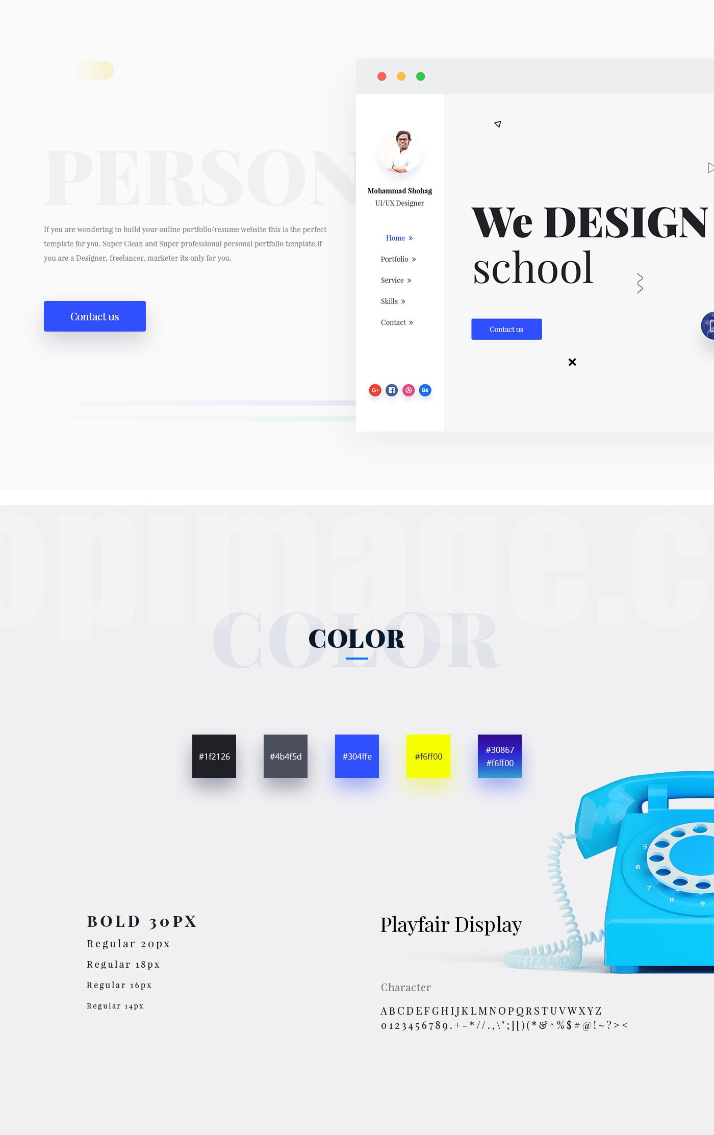 国外企业设计工作室官网ui kit介绍网站模板下载