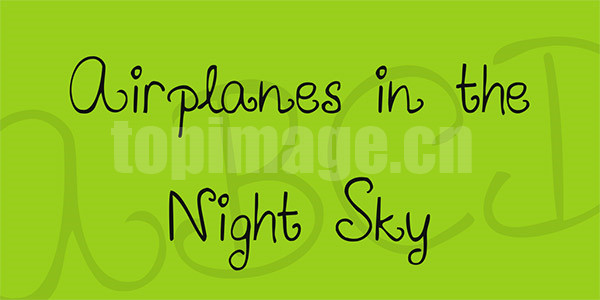 airplanes-in-the-night-sky手绘英文字体下载