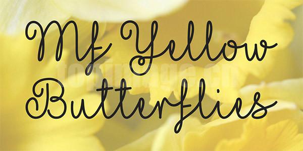 Mf Yellow Butterflies手写英文字体下载