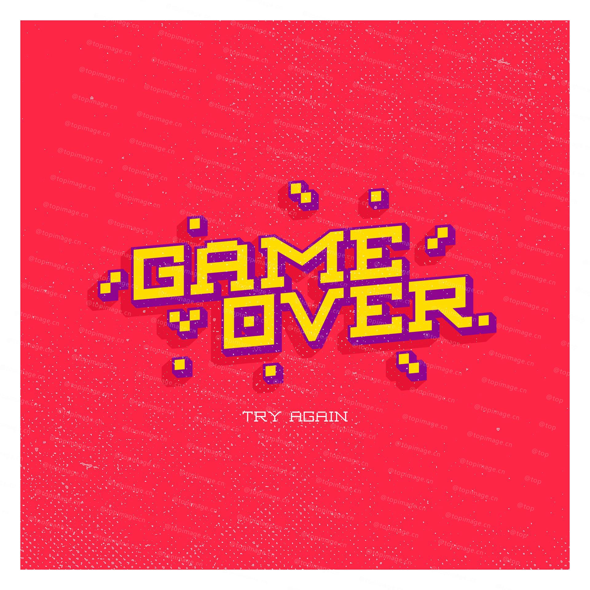AEXKON游戏风格简洁像素logo英文字体下载