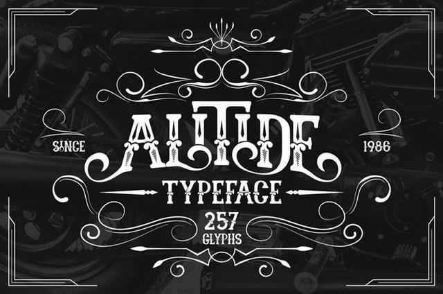 ALITIDE哥特纹身花体奇卡诺个性英文字体下载