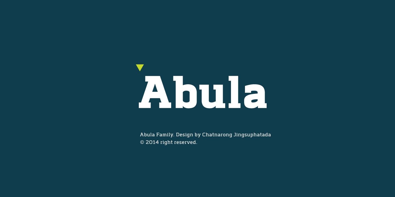Abula等宽无衬线简洁现代logo英文字体下载