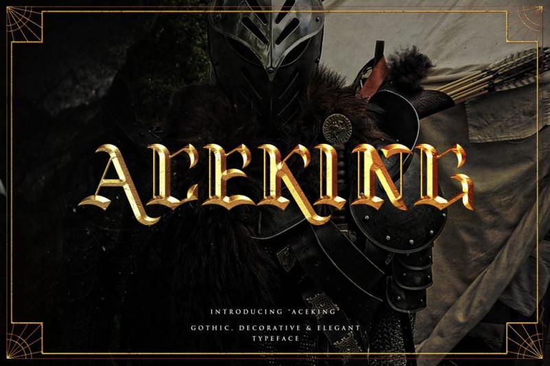 Aceking哥特复古衬线传统老式英文字体下载