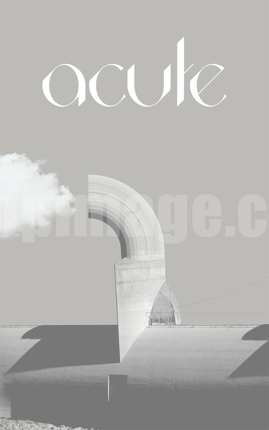 Acute创意logo现代简约好看的英文字体