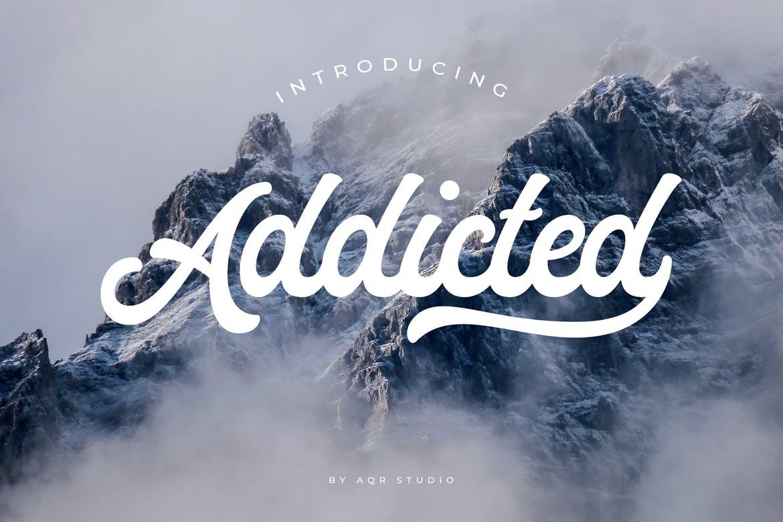 Addicted手写文艺好看的英文字体下载
