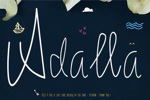 Adella趣味海报手写英文字体下载