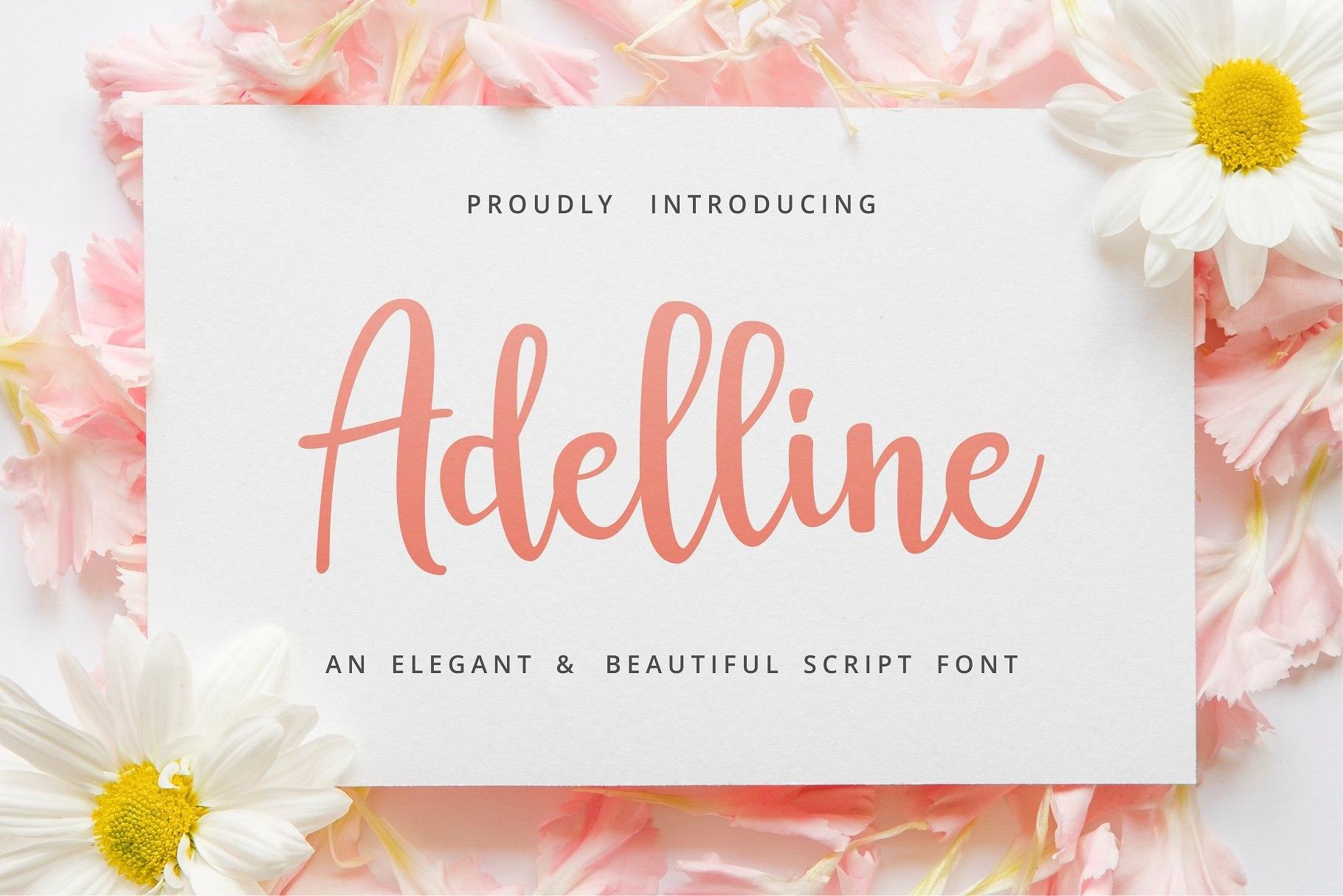 Adelline手写包装连笔文艺英文字体下载