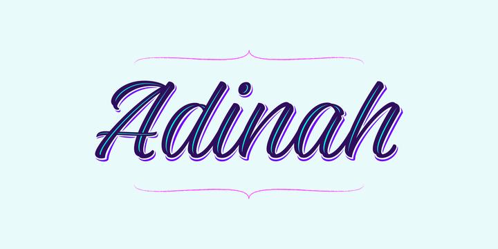 Adinah手写连笔海报阴影英文字体下载