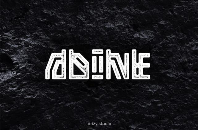 Adine个性创意logo设计英文字体下载