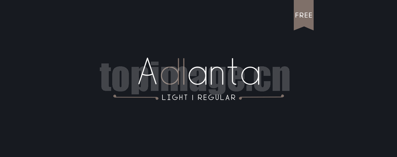 adlanta现代简洁纤细海报英文字体下载